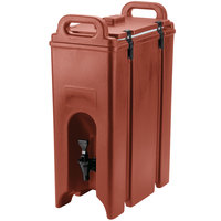 Cambro 500LCD402 Camtainer 4.75 Gallon Brick Red Insulated Beverage Dispenser