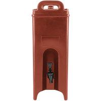 Cambro 500LCD402 Camtainer 4.75 Gallon Brick Red Insulated Beverage Dispenser