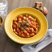 Tuxton CSD-120 Concentrix 24.5 oz. Saffron China Soup / Pasta Bowl - 6/Case