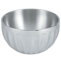 Vollrath 47687 Fluted Double Wall Round 3.4 Qt. Serving Bowl