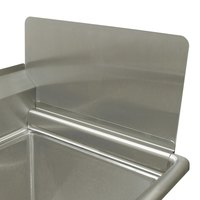 Advance Tabco K-700 Removable Sink Side Splash - 12 inch