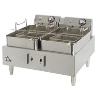 Star Max 530TF-CSA 30 lb. Twin Pot Commercial Countertop Deep Fryer 11,500W (Canadian Use Only)