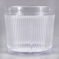 Carlisle 402907 Crystalon Stack-All 9.7 oz. Clear SAN Plastic Short Tumbler - 12/Case