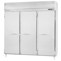 Beverage-Air PRD3-1AS 78 inch Stainless Steel Solid Door Pass-Through Refrigerator