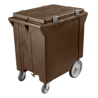 Carlisle IC222001 Brown Cateraide 200 lb. Mobile Ice Caddy