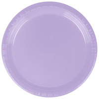 "Creative Converting 28193011 7"" Luscious Lavender Purple Plastic Plate - 240/Case"