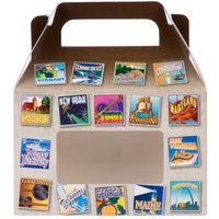 1-Piece 1/2 lb. State Window Candy Box 5 3/8 inch x 2 inch x 3 1/2 inch - 250/Case
