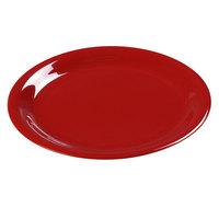 Carlisle 3300605 Sierrus 7 1/4 inch Red Narrow Rim Melamine Salad Plate - 48/Case