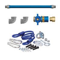 36 inch Dormont 16100KITCF SafetyQuik Gas Appliance Connector Kit - 1 inch Diameter