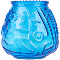 Sterno Products 40120 4 1/8 inch Blue Venetian Candle - 12/Pack