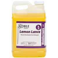 Noble Chemical 2.5 Gallon / 320 oz. Lemon Lance Lemon Disinfectant & Detergent Cleaner - 2/Case