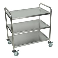 Luxor / H. Wilson ST-3 3 Shelf Stainless Steel Utility Cart / Bus Cart