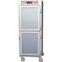 Metro C5Z69-SDC-UPDC C5 Pizza Series Pass-Through Insulated Heated Holding Cabinet - Full Size with Clear Dutch Doors 120V