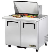True TSSU-36-12M-B 36 inch 2 Door Mega Top Refrigerated Sandwich Prep Table