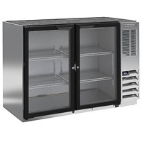 Beverage-Air BB48HC-1-GS-S 48 inch Stainless Steel Back Bar Refrigerator with Two Sliding Glass Doors