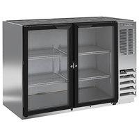Beverage-Air BB48HC-1-GS-S 48 inch Stainless Steel Underbar Height Sliding Glass Door Back Bar Refrigerator