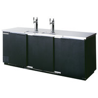 Beverage-Air DD78HC-1-B (2) Dual Tap Kegerator Beer Dispenser - Black, (4) 1/2 Keg Capacity