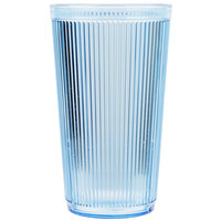 Carlisle 402054 20 oz. Blue Crystalon Stack-All SAN Plastic Tumbler - 12/Case