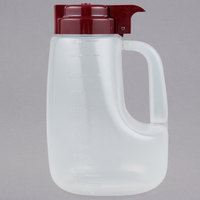 Tablecraft PP48M Option 48 oz. Dispenser Jar with Maroon Top