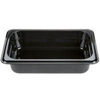 Carlisle 3088003 StorPlus 1/4 Size Black High Heat Food Pan - 2 1/2 inch Deep