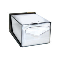 San Jamar H3005CLXC Fullfold Countertop Napkin Dispenser with Control Face - Clear Face with Chrome Body