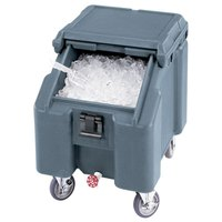 Cambro ICS100L401 SlidingLid Slate Blue Portable Ice Bin - 100 lb. Capacity
