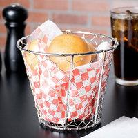 American Metalcraft WIR1 Round Chrome Chicken Wire Basket - 7 inch x 5 1/2 inch