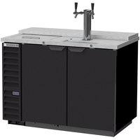 Beverage-Air DD50HC-1-C-B Single Tap Club Top Kegerator Beer Dispenser - Black, (2) 1/2 Keg Capacity
