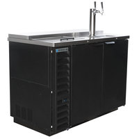 Beverage-Air DD50HC-1-C-B Double Tap Club Top Kegerator Beer Dispenser - Black, (2) 1/2 Keg Capacity