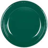 Creative Converting 28312431 10 inch Hunter Green Plastic Plate - 20/Pack