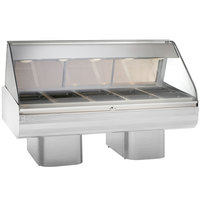 Alto-Shaam PD2SYS-72 SS Stainless Steel Heated Display Case with Curved Glass and Pedestal Base - Full Service 72 inch