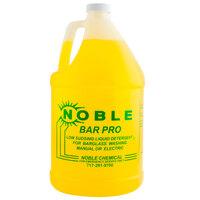 Noble Chemical Bar Pro Low Sudsing Liquid Detergent for Glassware - Ecolab® 18143 Alternative - (4) 1 Gallon Bottles / Case