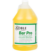 Noble Chemical Bar Pro Low Sudsing Liquid Detergent for Glassware 1 gallon / 128 oz. Bottle - Ecolab® 18143 Alternative   - 4/Case