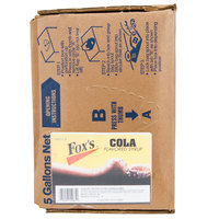 Fox's Bag In Box Cola Beverage / Soda Syrup - 5 Gallon