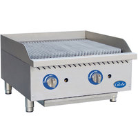 Globe GCB24G-SR 24 inch Gas Charbroiler with Stainless Steel Radiants - 80,000 BTU