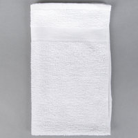 Choice 16 inch x 27 inch White 44 oz. 100% Cotton Ribbed Heavyweight Bar Mop Towel   - 12/Pack
