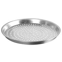 American Metalcraft PADEP14 14 inch x 1 inch Perforated Standard Weight Aluminum Tapered / Nesting Deep Dish Pizza Pan