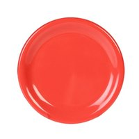 Thunder Group CR009RD 9 1/4 inch Orange Wide Rim Melamine Plate - 12/Pack