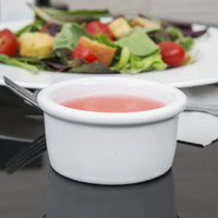Tuxton BWX-025 White 2.5 oz. Smooth China Ramekin - 48/Case
