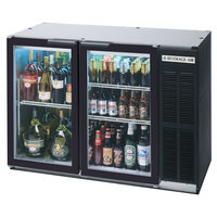 Beverage-Air BB48HC-1-G-B-WINE 48 inch Black Back Bar Wine Series Refrigerator - Narrow Depth, 2 Glass Doors