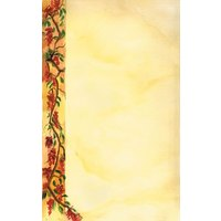 8 1/2 inch x 11 inch Menu Paper Left Insert - Mediterranean Themed Villa Design - 100/Pack