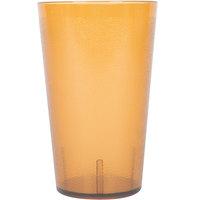 32 oz. Amber SAN Plastic Pebbled Tumbler - 12/Pack