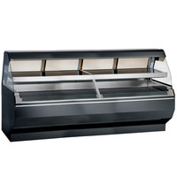 Alto-Shaam ED2SYS-96/2S BK Black Two-Tiered Heated Display Case with Curved Glass and Base - Self Service 96 inch