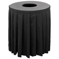 Buffet Enhancements 1BCTV32SET Black Round Topper with Black Skirting for 32 Gallon Trash Cans