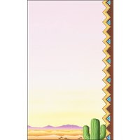 8 1/2 inch x 14 inch Menu Paper - Southwest Themed Cactus Design Right Insert - 100/Pack