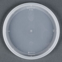 Newspring YNL500 4 9/16 inch DELItainer Translucent Round Deli Container Lid - 60/Pack