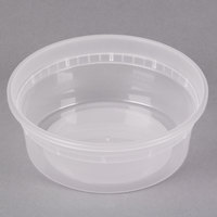Pactiv/Newspring L5008Y 8 oz. Translucent Round Deli Container - 480/Case