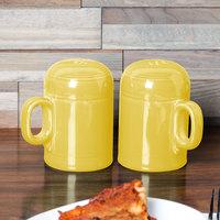 Homer Laughlin 756320 Fiesta Sunflower Rangetop Salt and Pepper Shaker Set - 4/Case