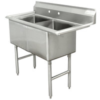 Advance Tabco FC-2-1515 Two Compartment Stainless Steel Commercial Sink - 35 inch