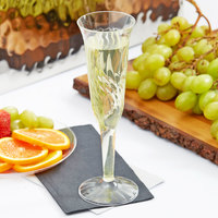 Fineline Flairware 2106 5 oz. Clear Plastic 1 Piece Champagne Flute - 8/Pack